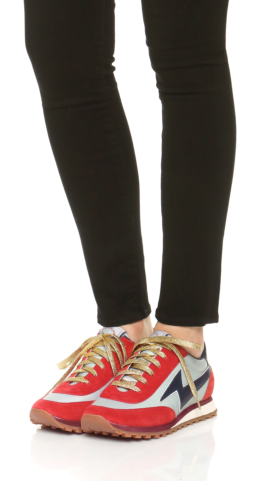 Marc Jacobs Synthetic Astor Lightning Bolt Sneakers In