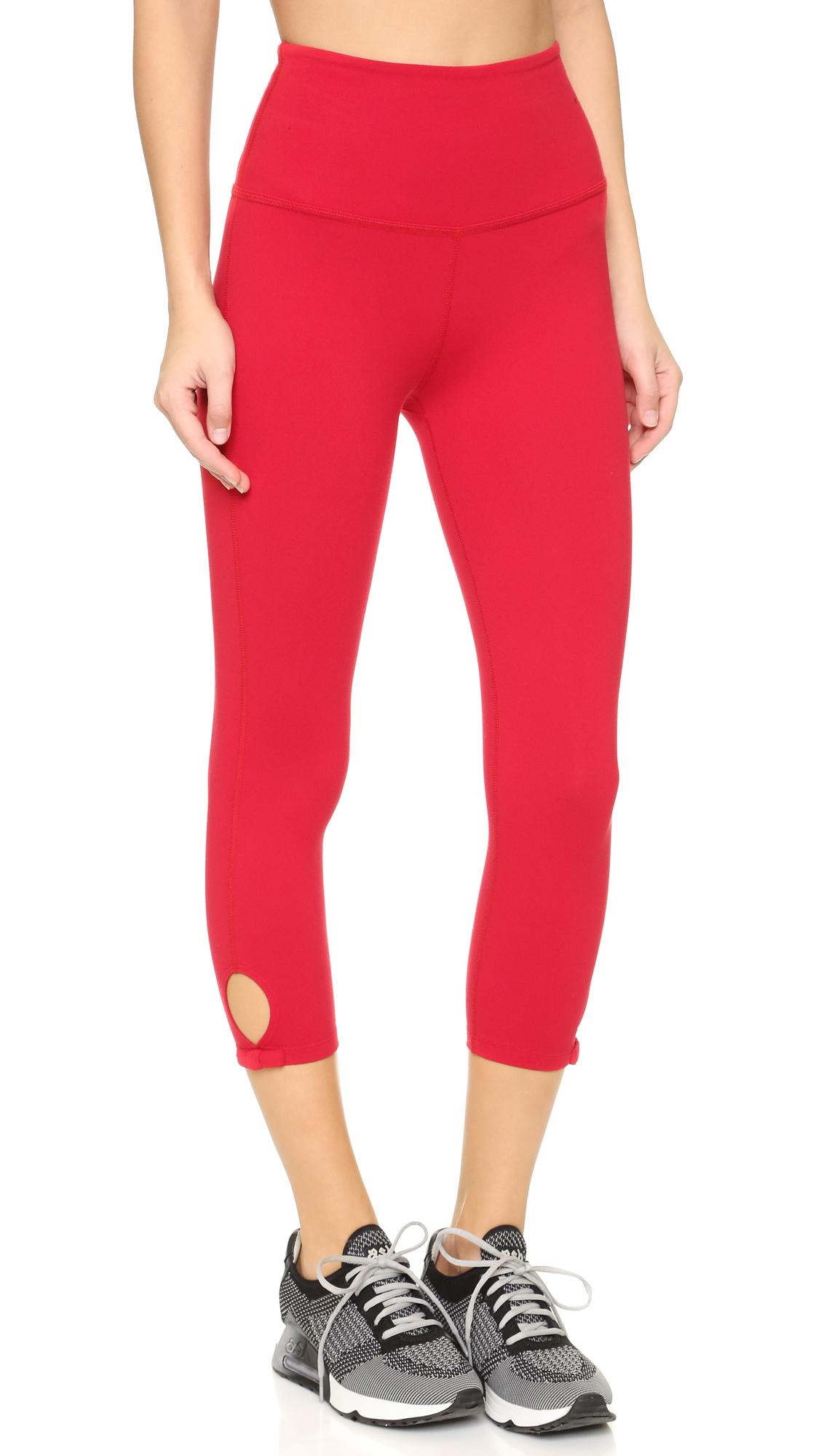 Lyst Beyond Yoga Kate Spade Bow Capri Leggings In Red