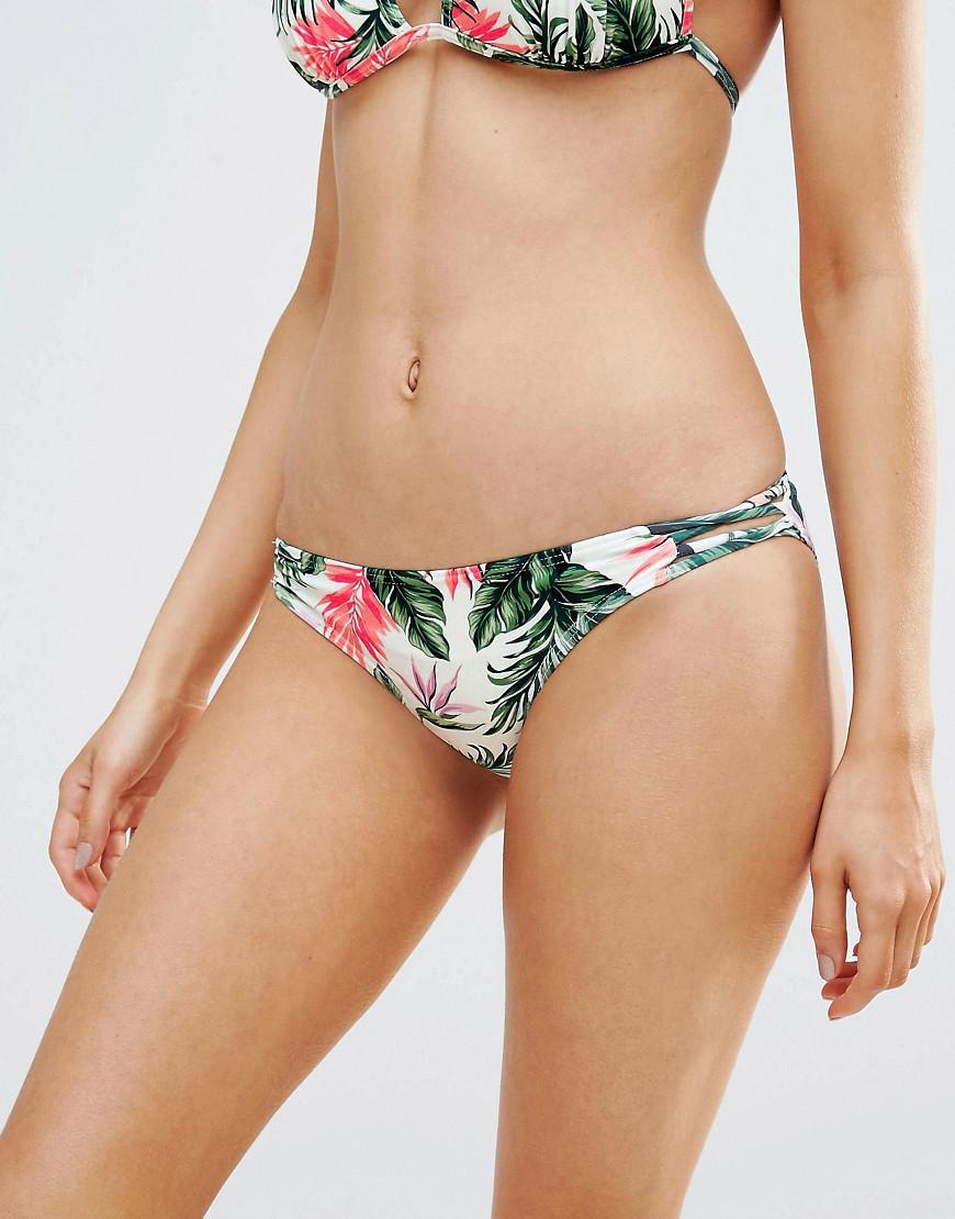 Lyst New Look Tropical Lattice Side Bikini Bottom
