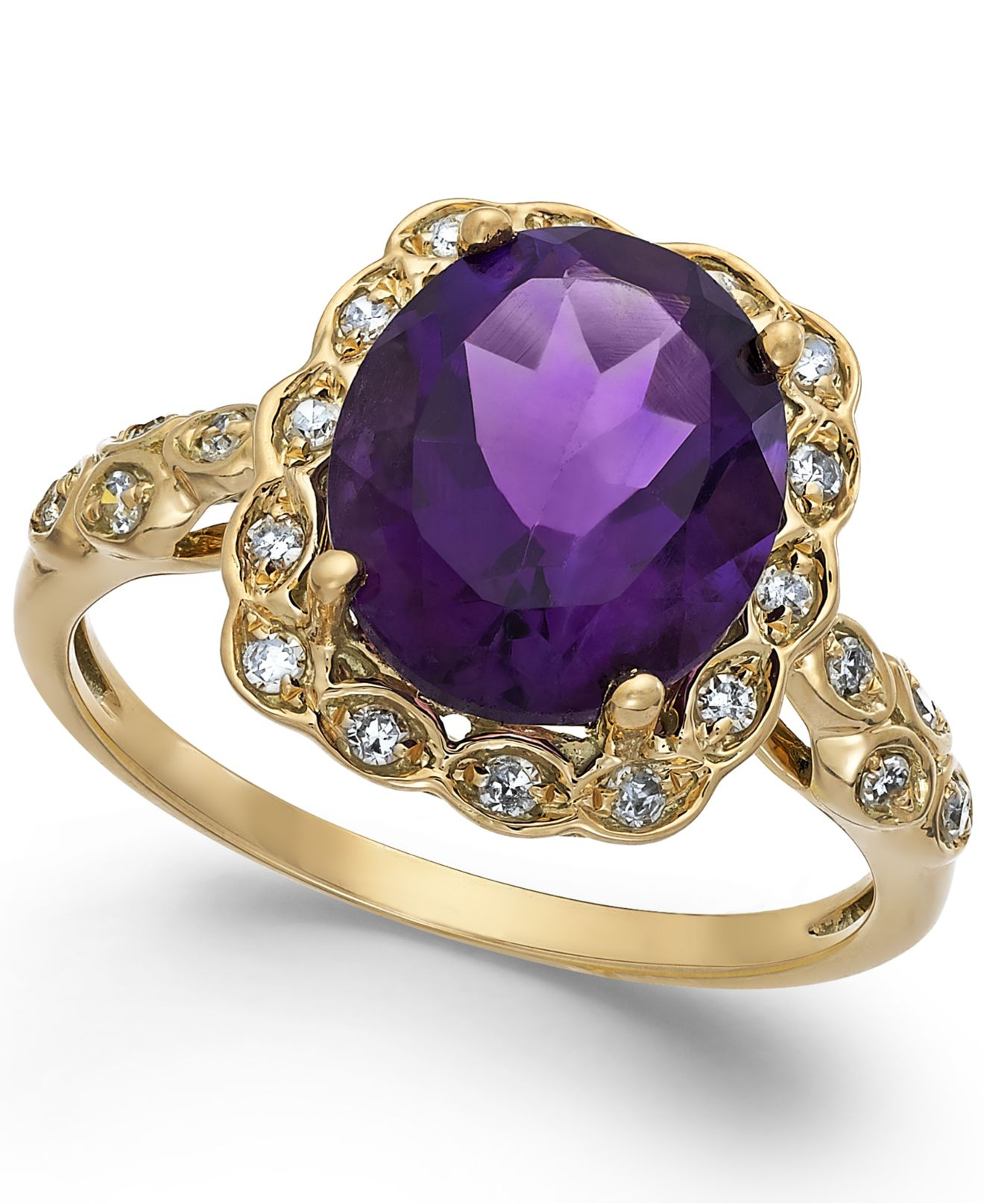 Macys Amethyst 3 12 Ct Tw And Diamond Accent Ring