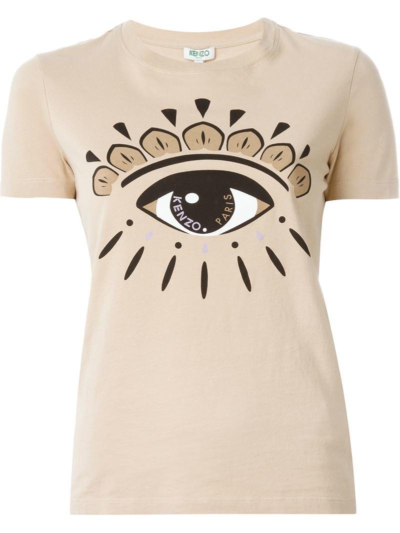 8800495d1 Kenzo T Shirt With Eye Velvet Patch In Black Nero Lyst - Homemade ...