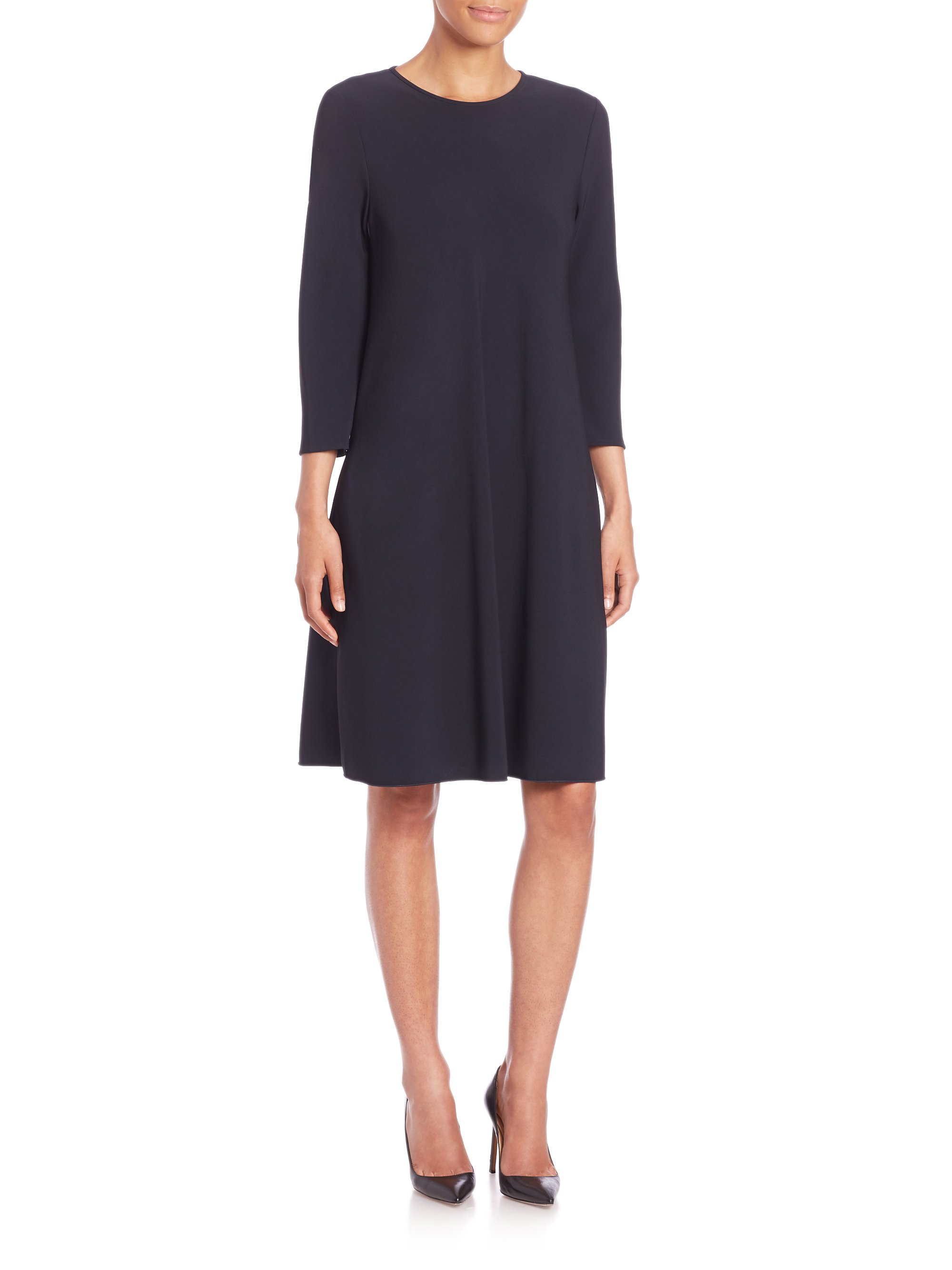 Lyst Max Mara Cady Flare Dress In Blue