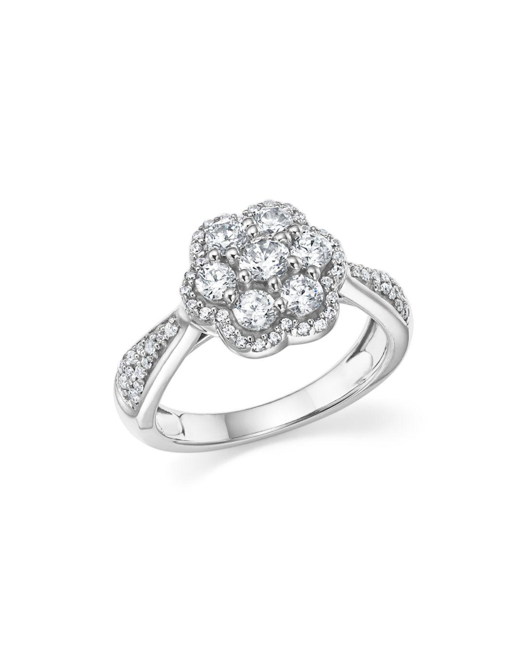 Bloomingdale S Diamond Cluster Flower Ring In 14k White