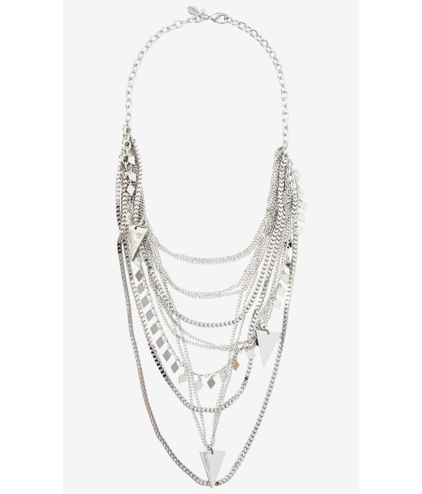 Express Layered Chain And Triangle Charm Necklace In