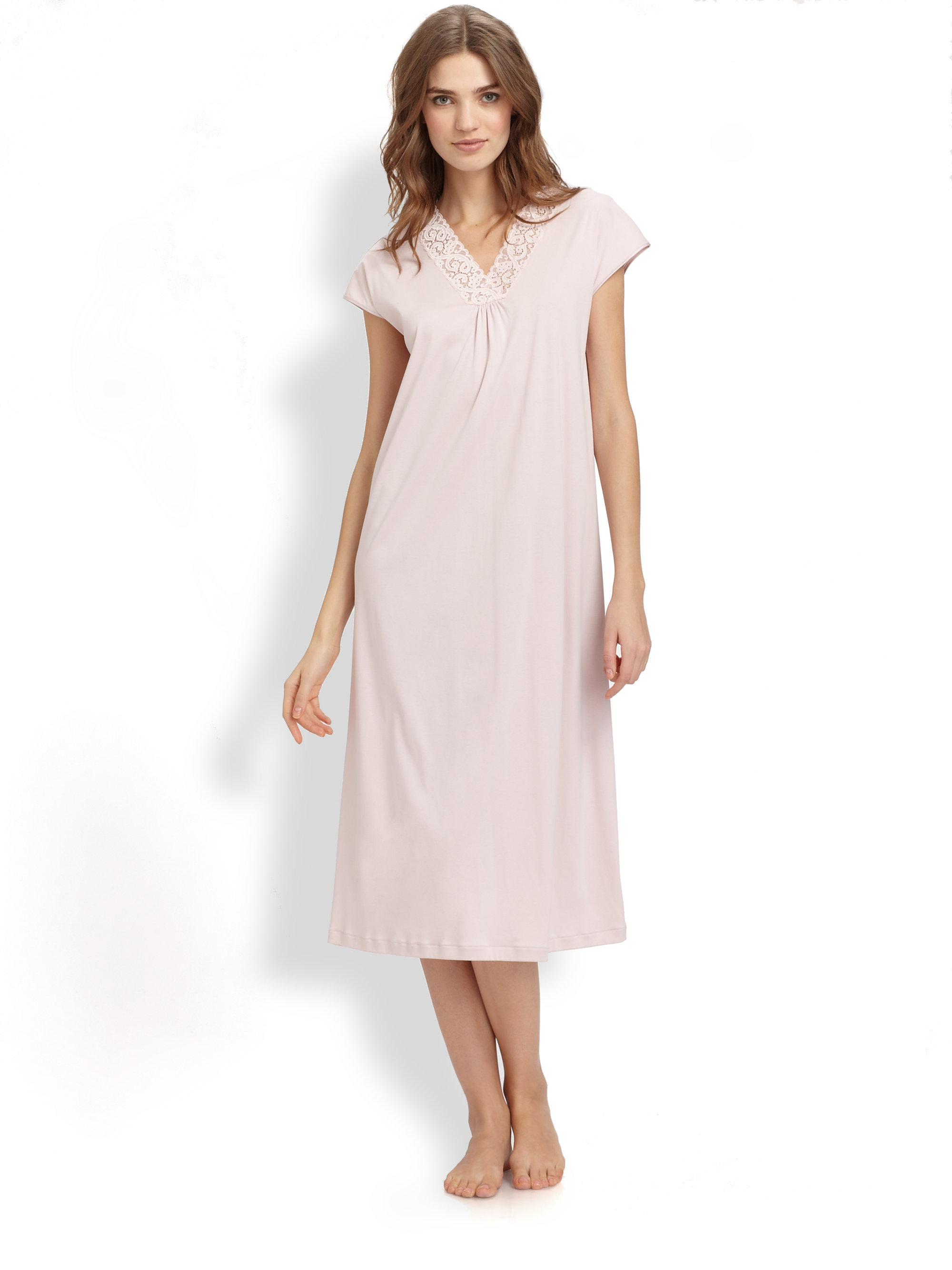 Knit Long Sleeve Cotton Nightgowns For Women