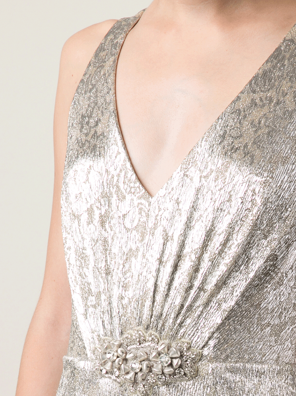 David Meister Gold Lace Gown
