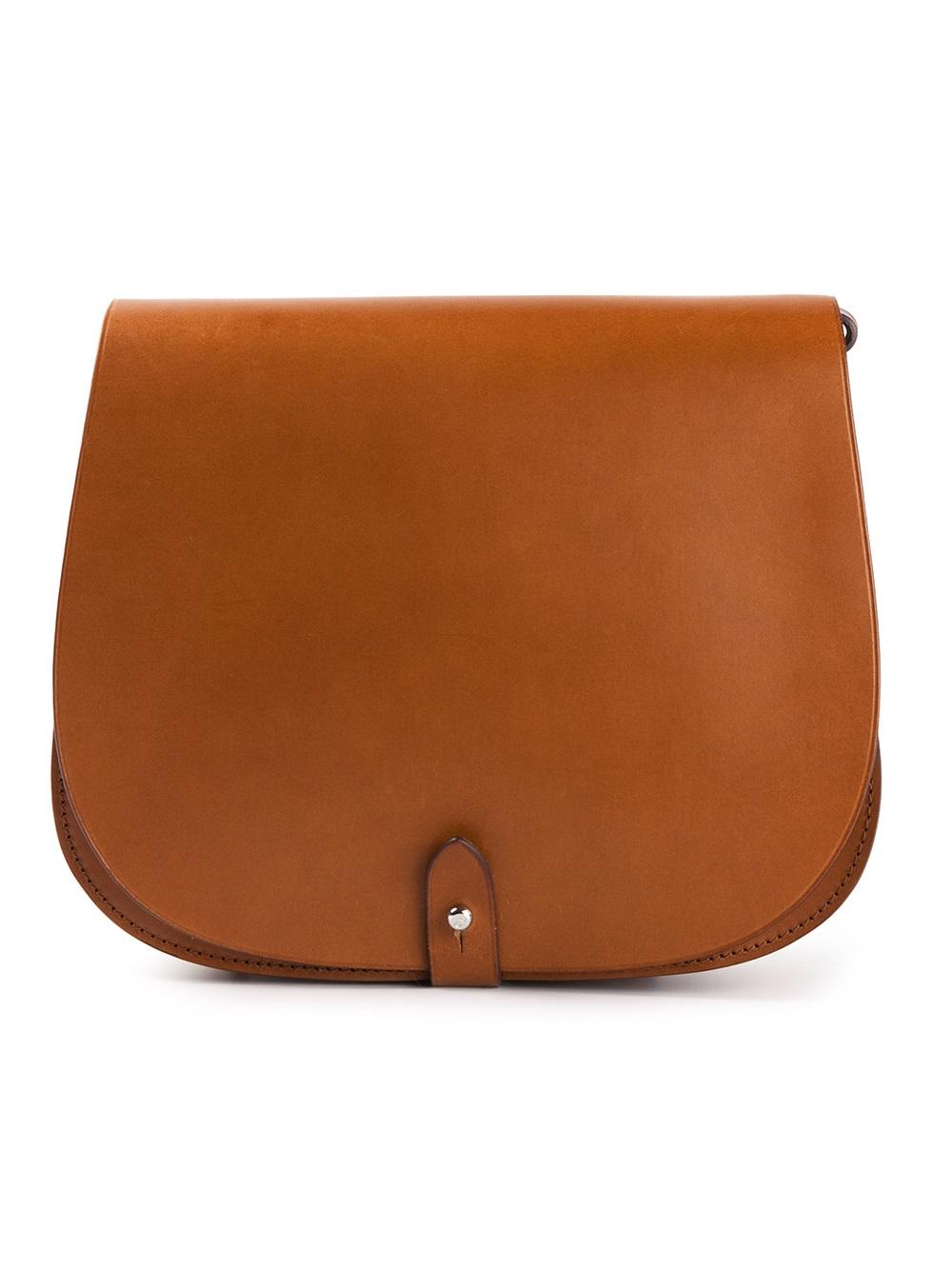 Lyst Ralph Lauren Black Label Classic Saddle Bag In Brown