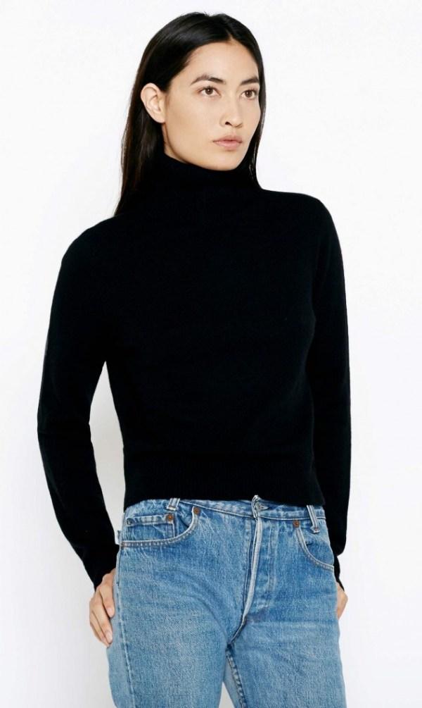 Equipment Atticus Cashmere Turtleneck Sweater in Black | Lyst