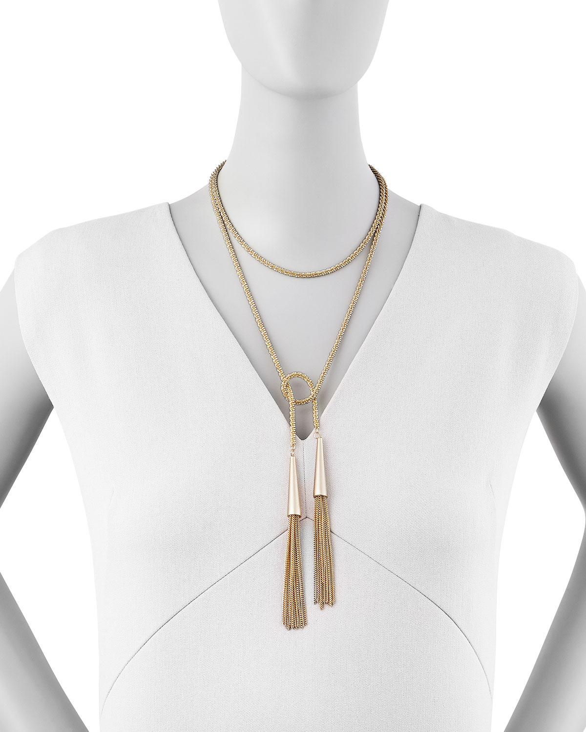 Kendra Scott Phara Gold Plated Double Wrap Necklace In