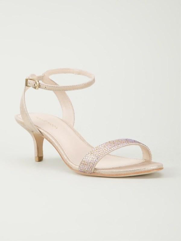 Pelle moda 'fabia' Sandals in Metallic   Lyst