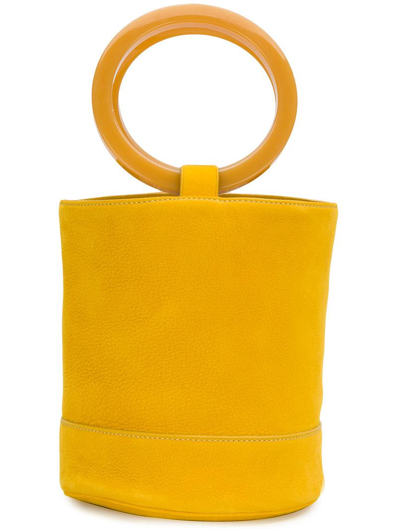 Lyst Simon Miller Round Bucket Tote In Yellow