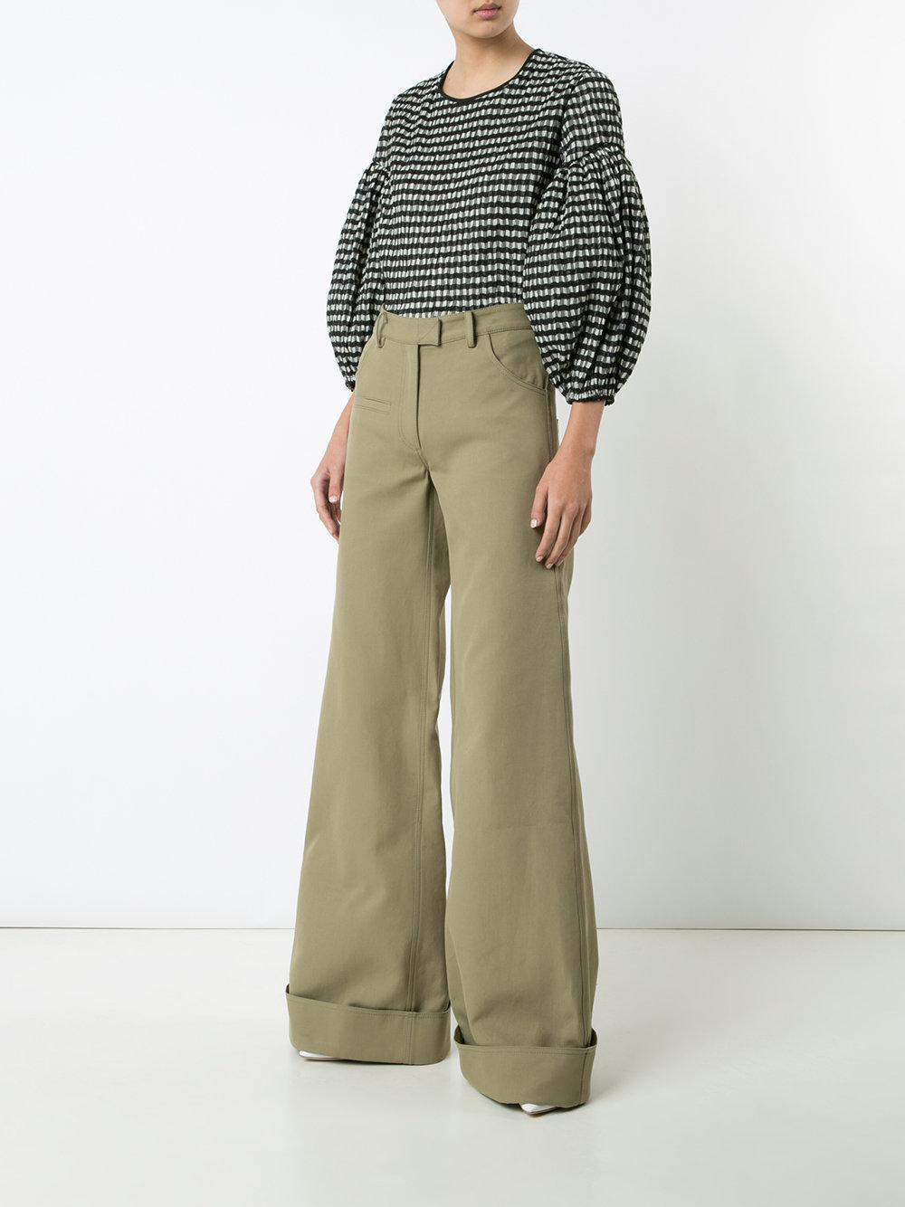 Lyst Rosie Assoulin B Boy Pants In Green