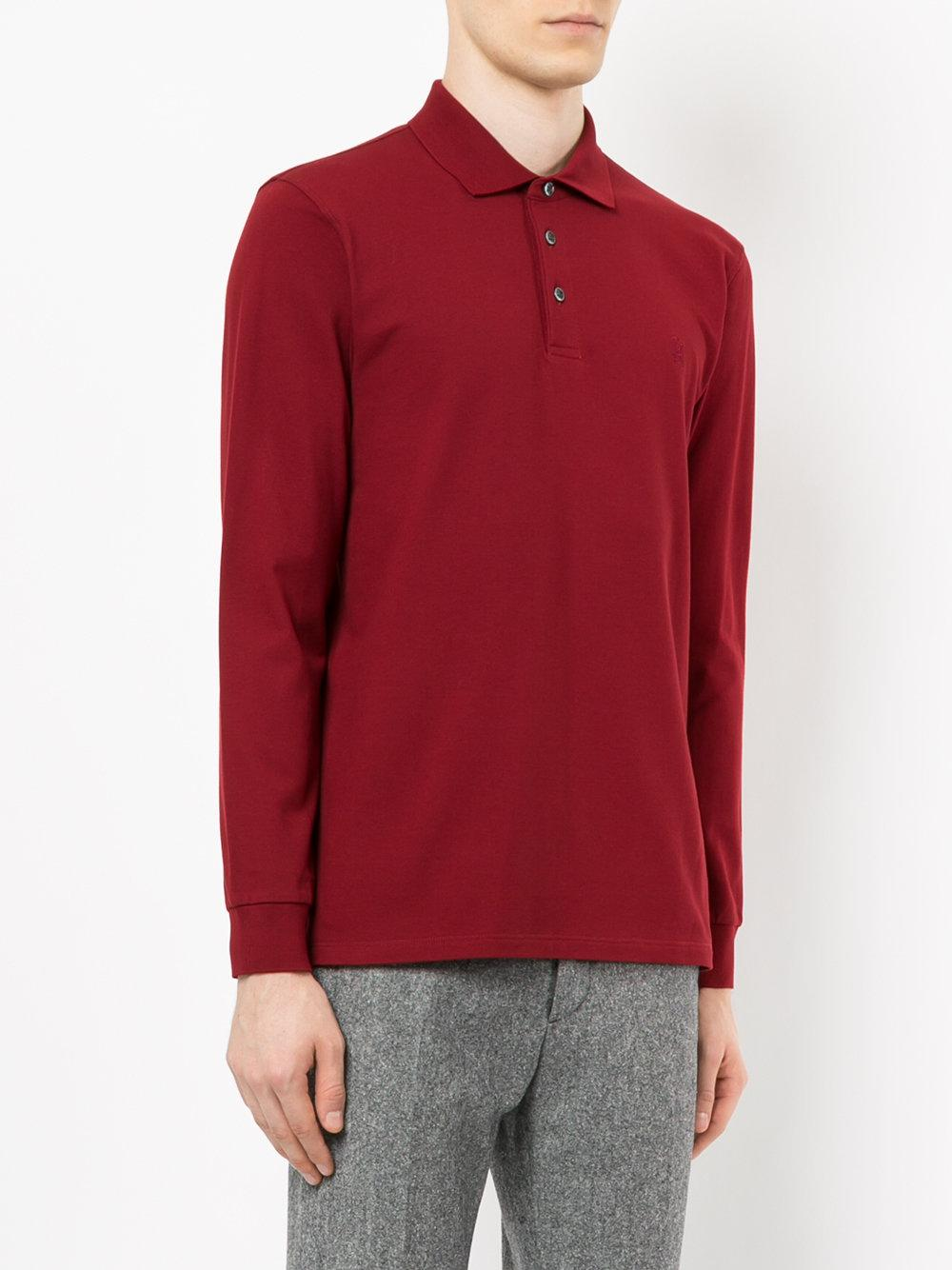 Gieves & Hawkes Cotton Embroidered Logo Polo Shirt for Men - Lyst