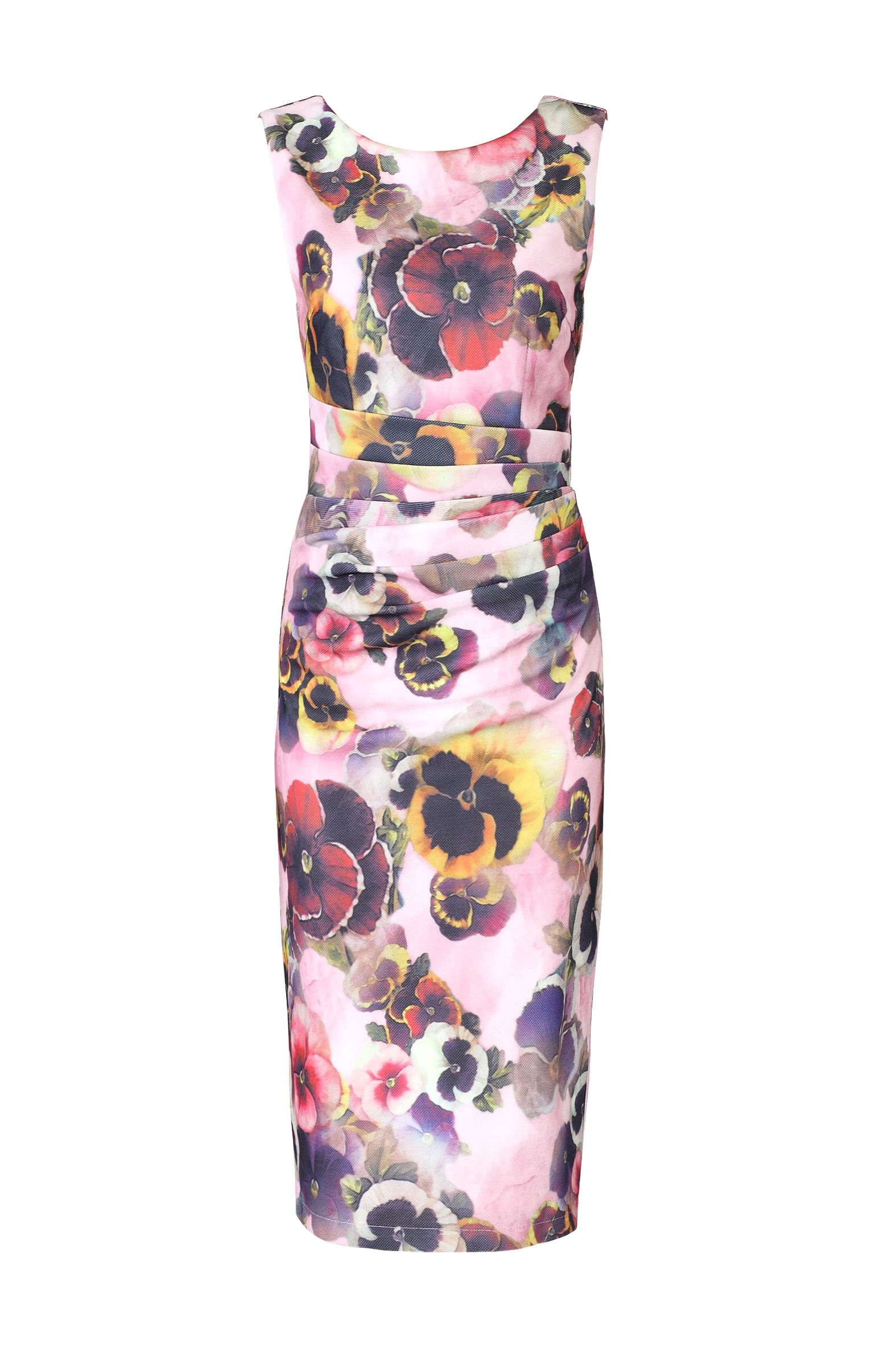 Jolie Moi Floral Print Ruched Shift Dress Lyst