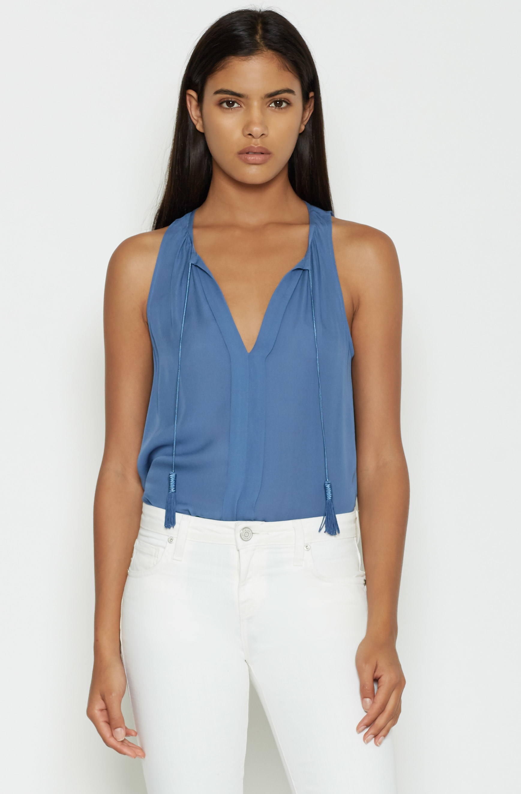 Lyst Joie Airlan Silk Top In Blue