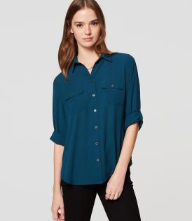 Image result for loft utility blouse dark turquoise gem