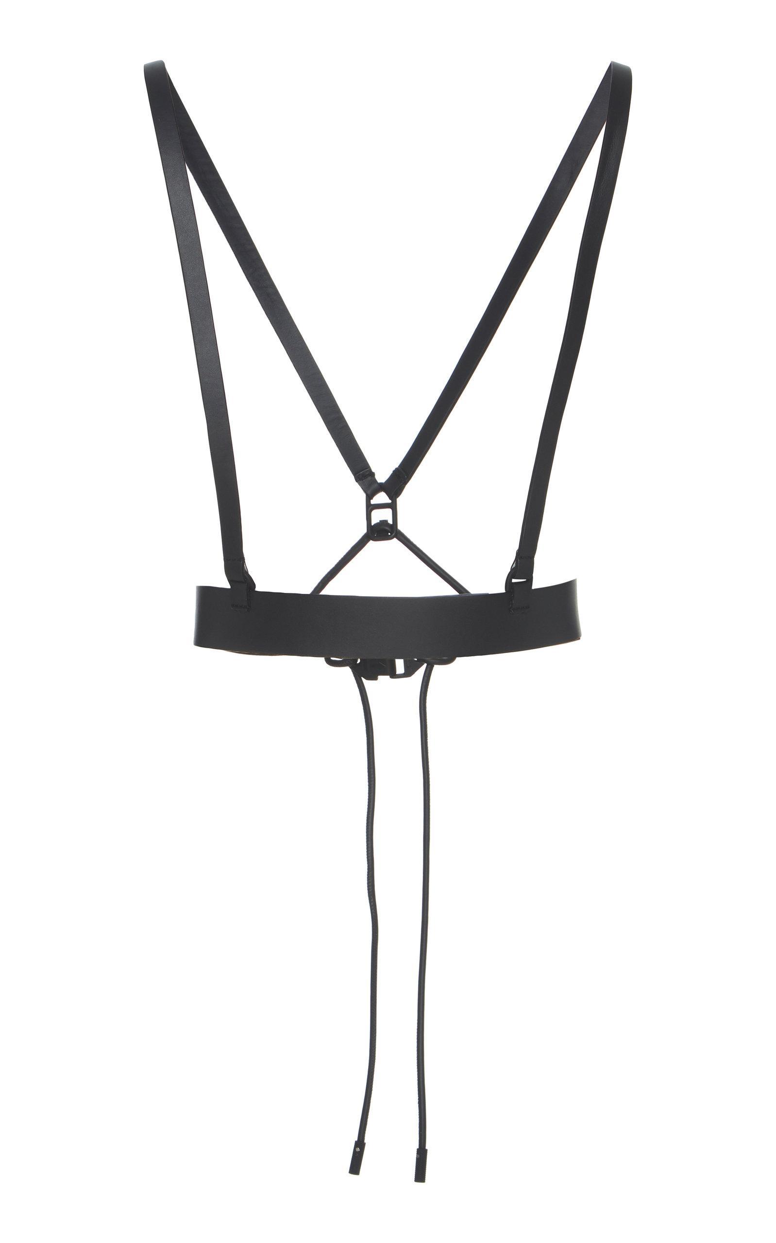 Off White C O Virgil Abloh Leather Harness Belt In Black