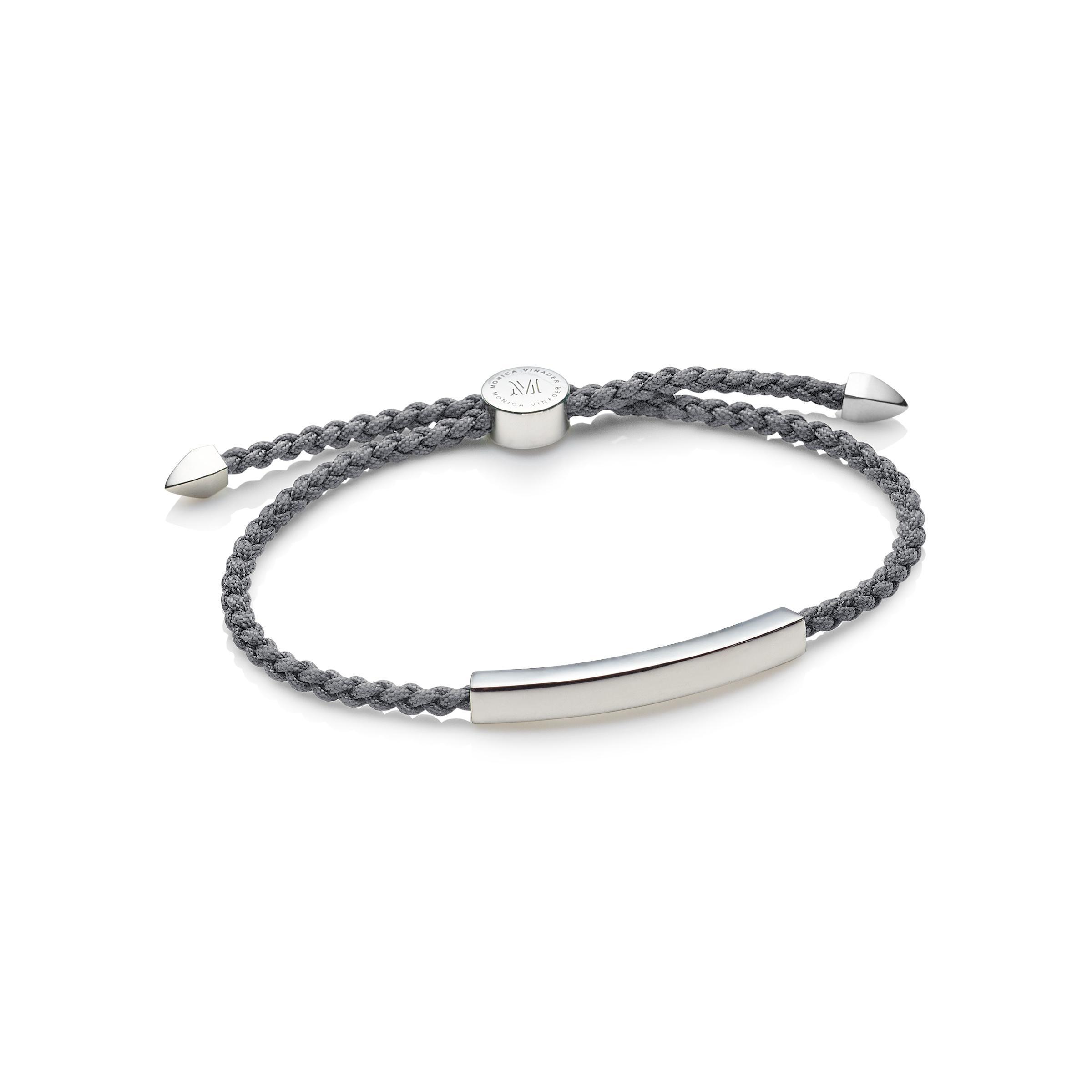 Monica Vinader Linear Men S Friendship Bracelet In Gray