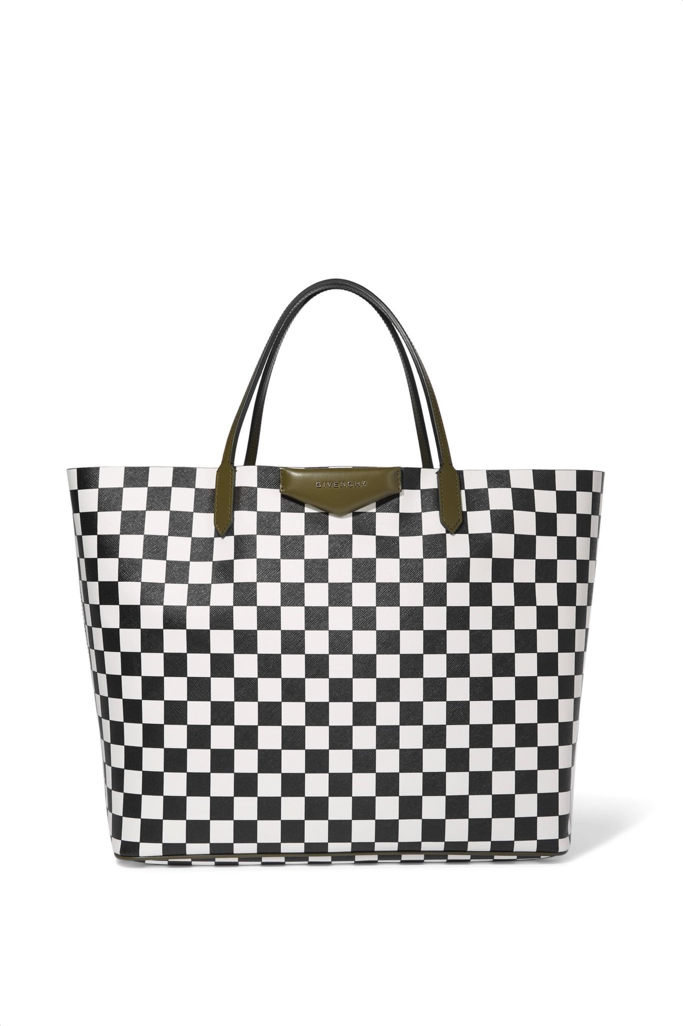 Givenchy Antigona Shopping Large Checked Textured Leather