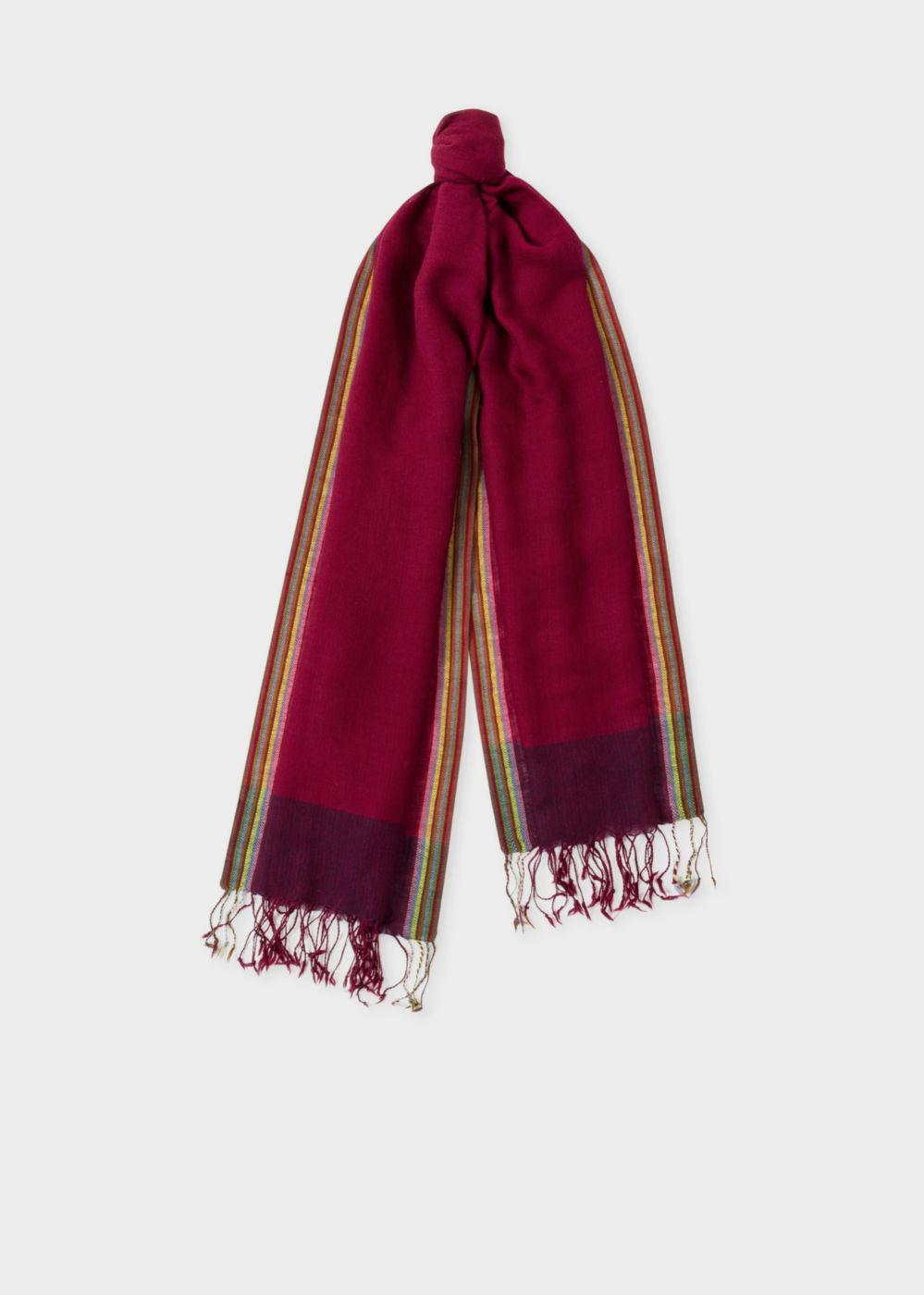 Lyst Paul Smith Mens Burgundy Artist Stripe Border