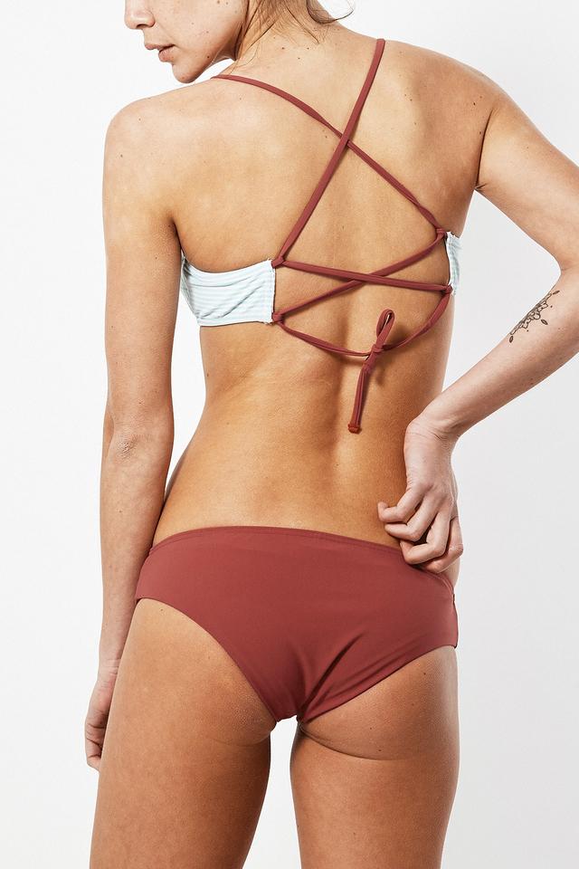 Albertine La Baule Terracotta Bikini Two Piece Suit In Red