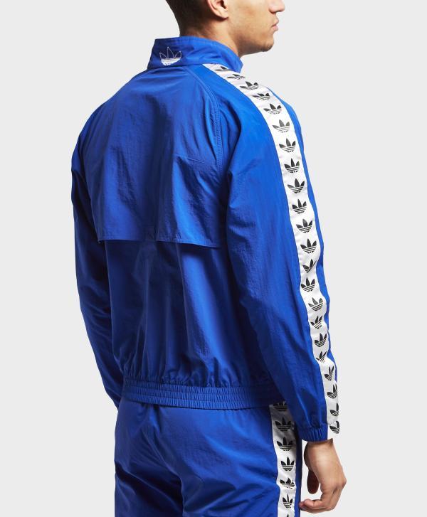 Lyst - Adidas Originals Tape Track Top in Blue for Men
