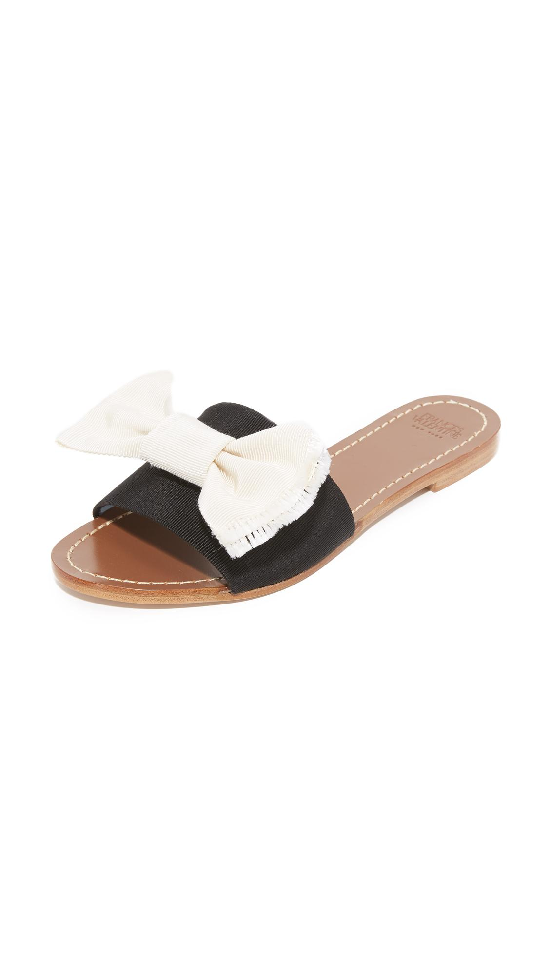Frances Valentine Judy Bow Slides Save 71 Lyst
