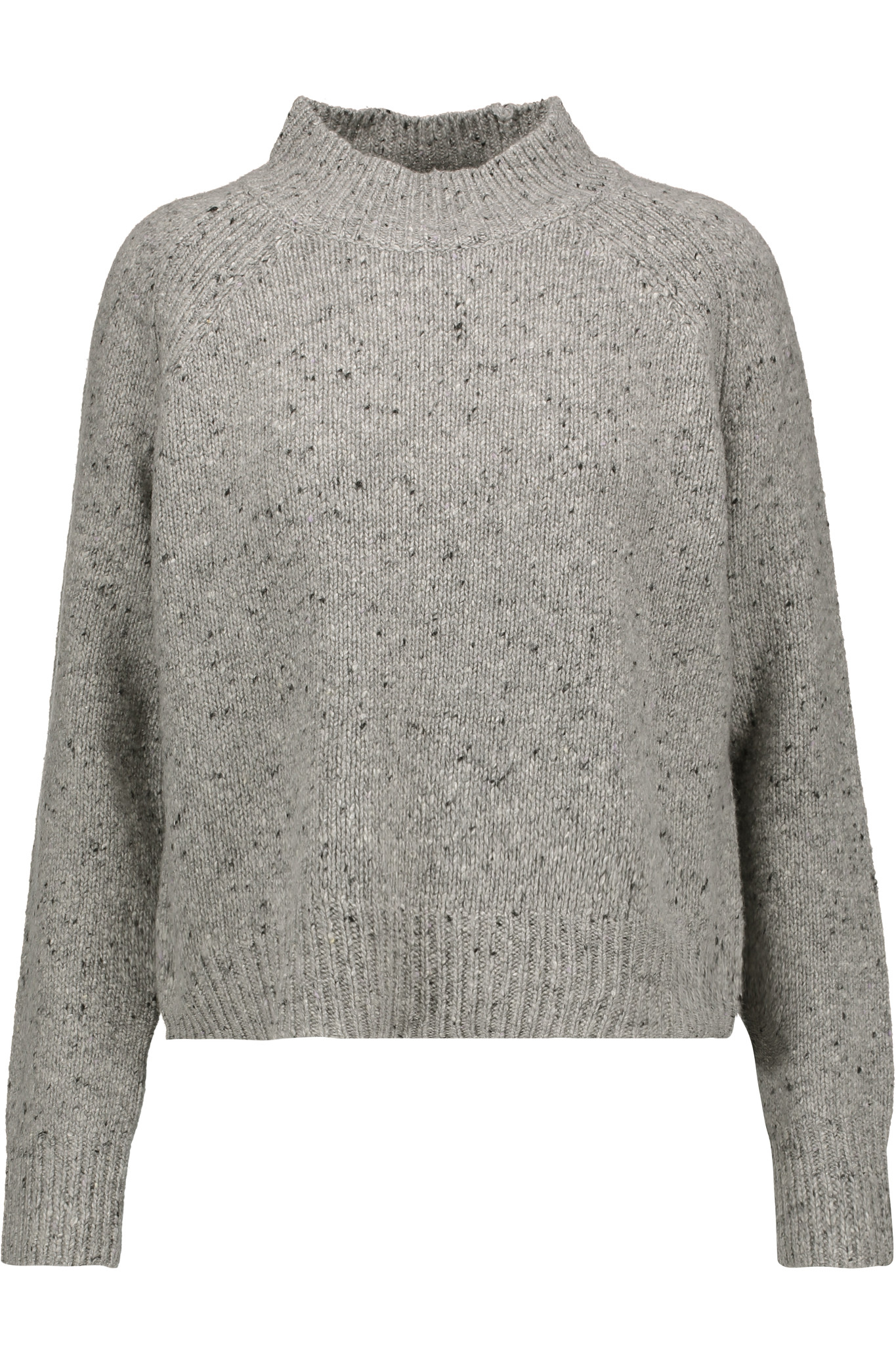 Lyst Rebecca Minkoff Banga Merino Wool Blend Sweater In Gray