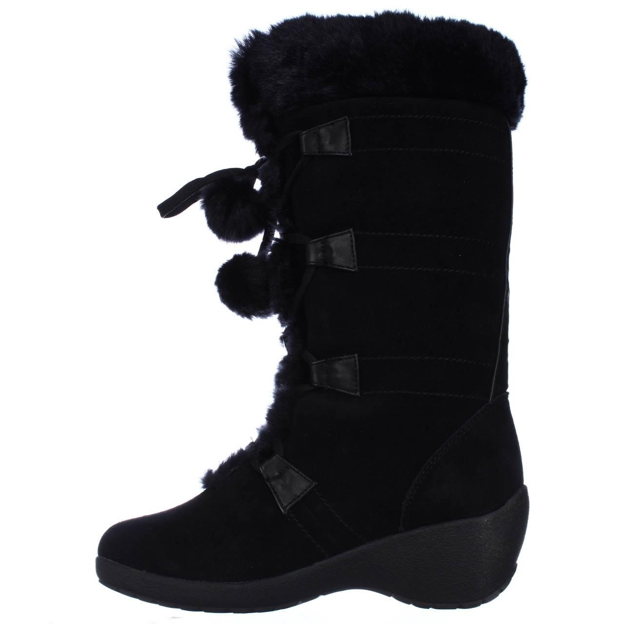Sporto Megan Wedge Lace Up Waterproof Winter Boots In