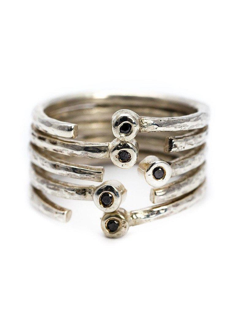 Lyst Henson Multi Band Ring In Metallic