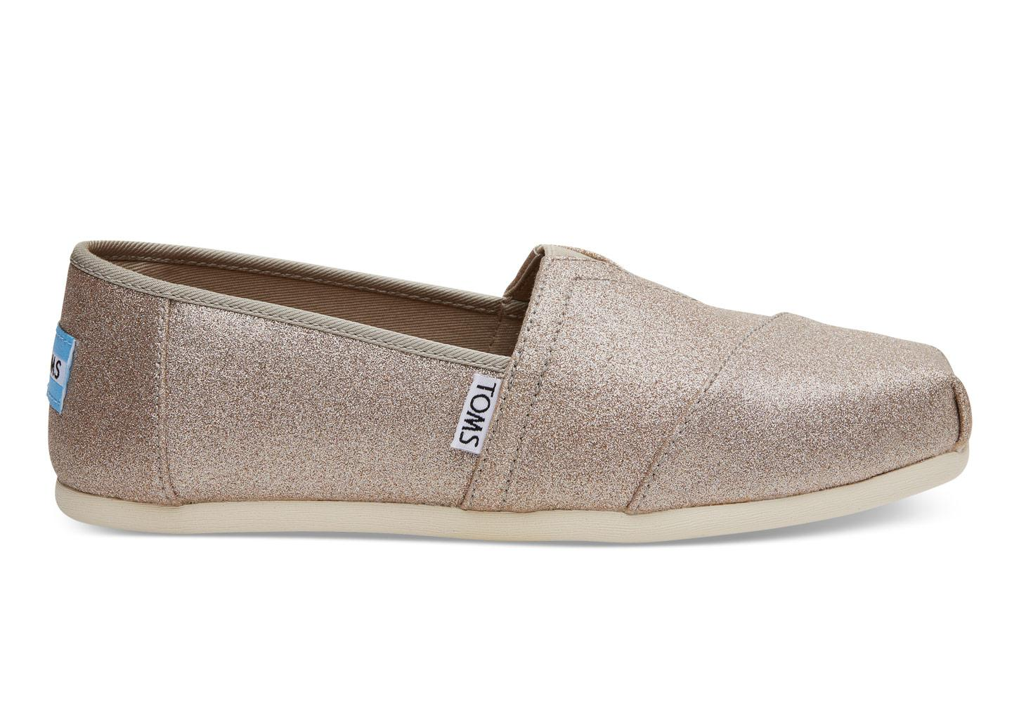 Lyst Toms Rose Gold Glimmer Womens Classics