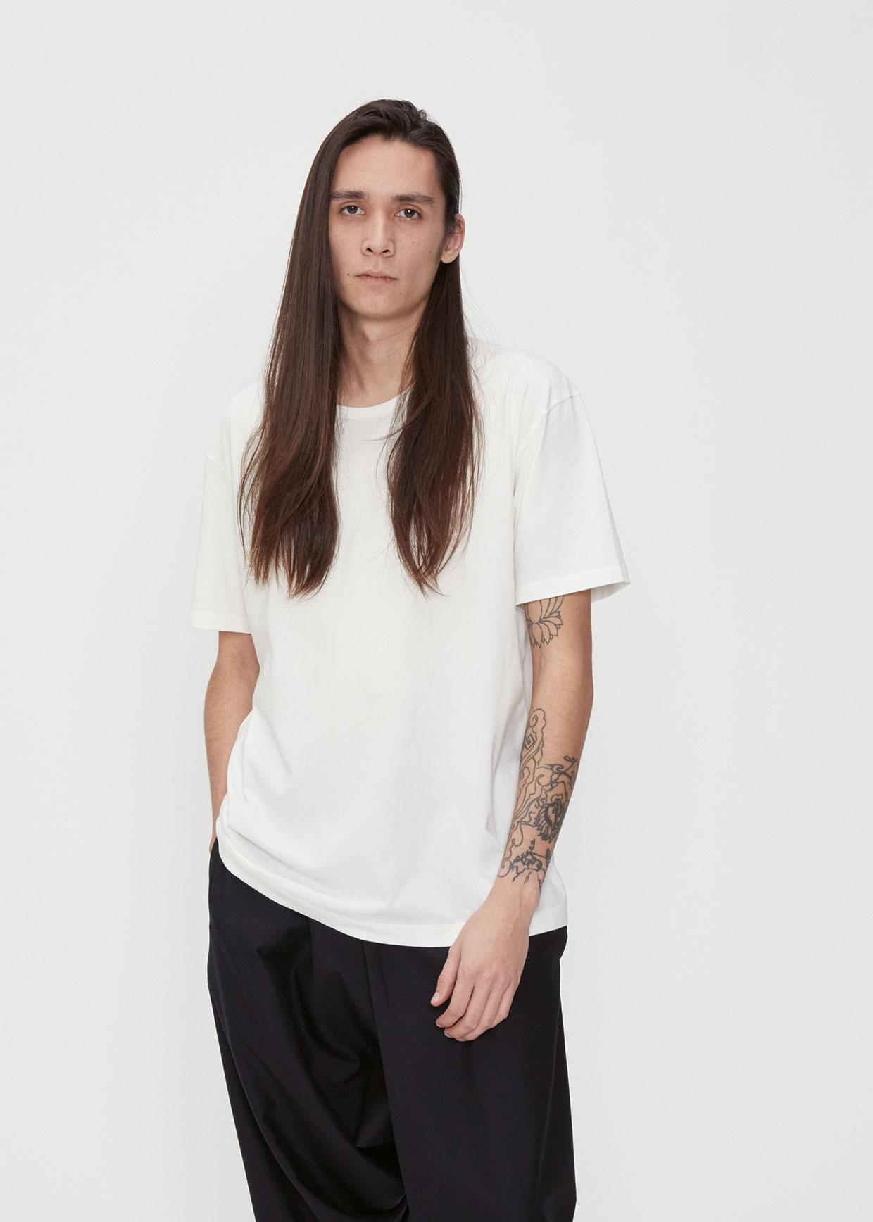Issey Miyake Cotton Bio Tee In White For Men