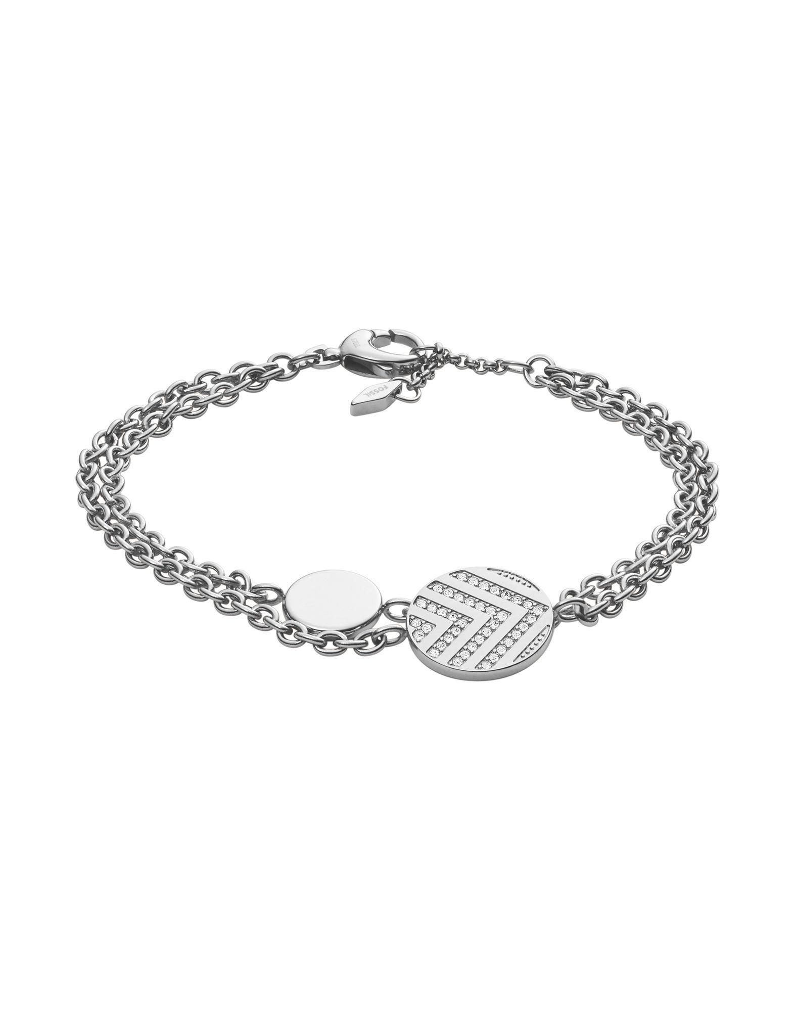 Fossil Bracelet In Silver Metallic