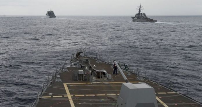 American warships in the South China Sea