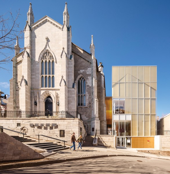 Vive la Litt    rature  Vive la Libert        Canadian Architect A renovation and addition transform a church in Old Quebec City into a  centre for celebrating