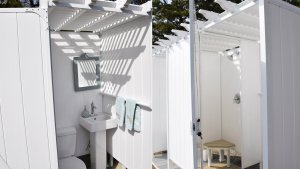 ToddPod Pool Cabana By Outdoor Shower Offers All In One