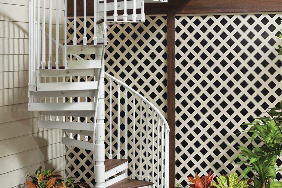 Trex Spiral Stairs Professional Deck Builder   Trex Spiral Stairs Cost   Stair Treads   Composite   Stair Case   Steel   Handrail