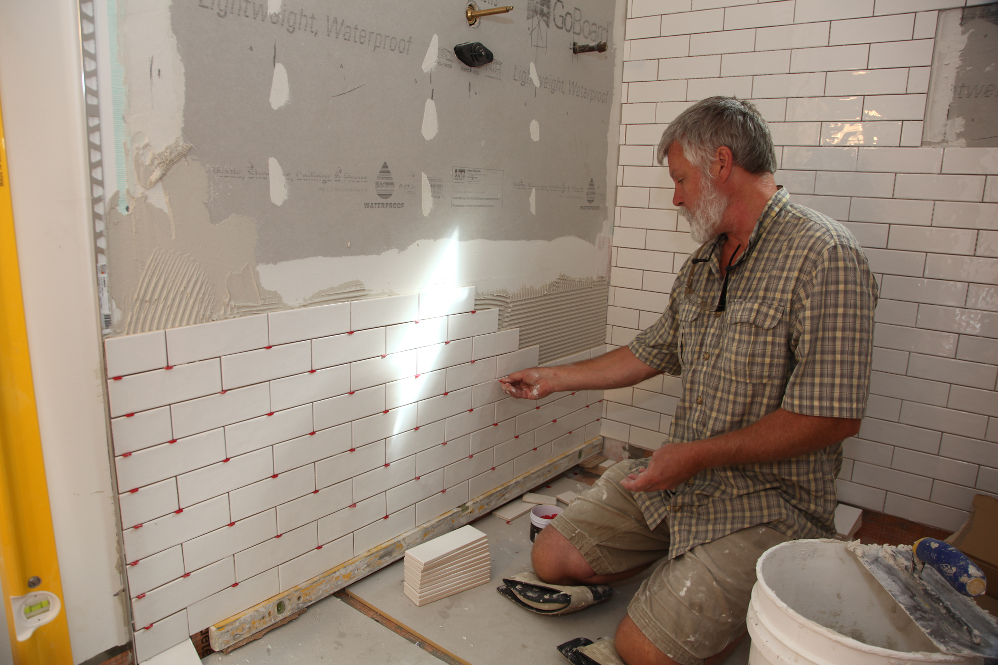 wall tile installation
