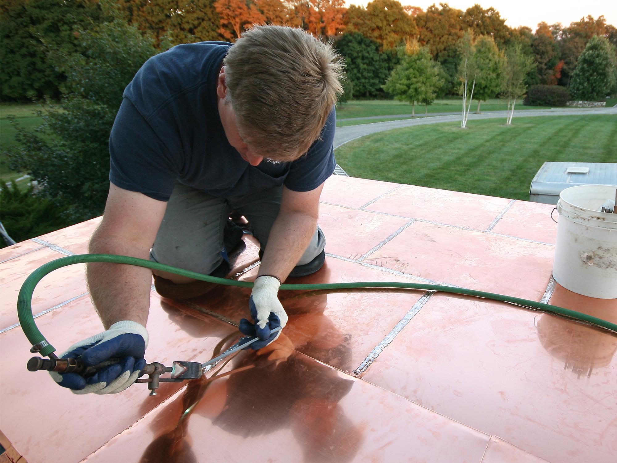 Installing A Flat Seam Copper Roof