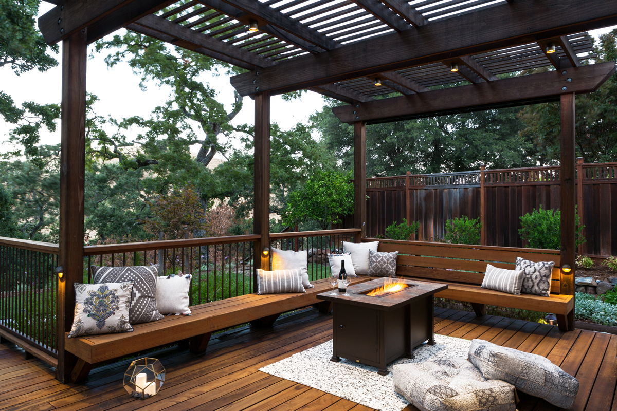 Deck and Patio Combination Creates Ideal Backyard ... on Patio With Deck Ideas id=31038