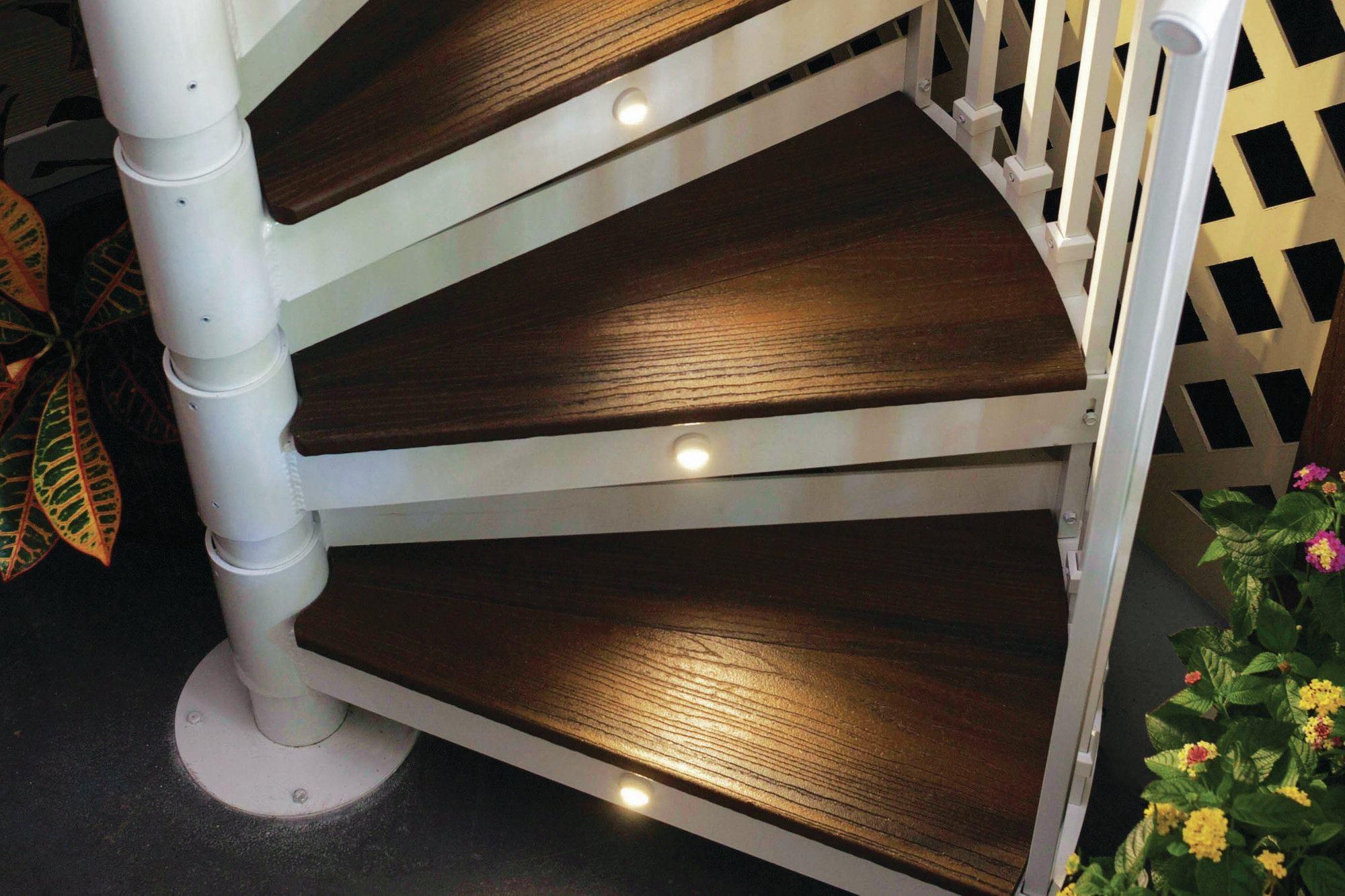 Trex Spiral Stairs Custom Home Magazine | 6 Foot Spiral Staircase | Reroute Galvanized | Stair Case | Mylen Stairs | Wood | Metal
