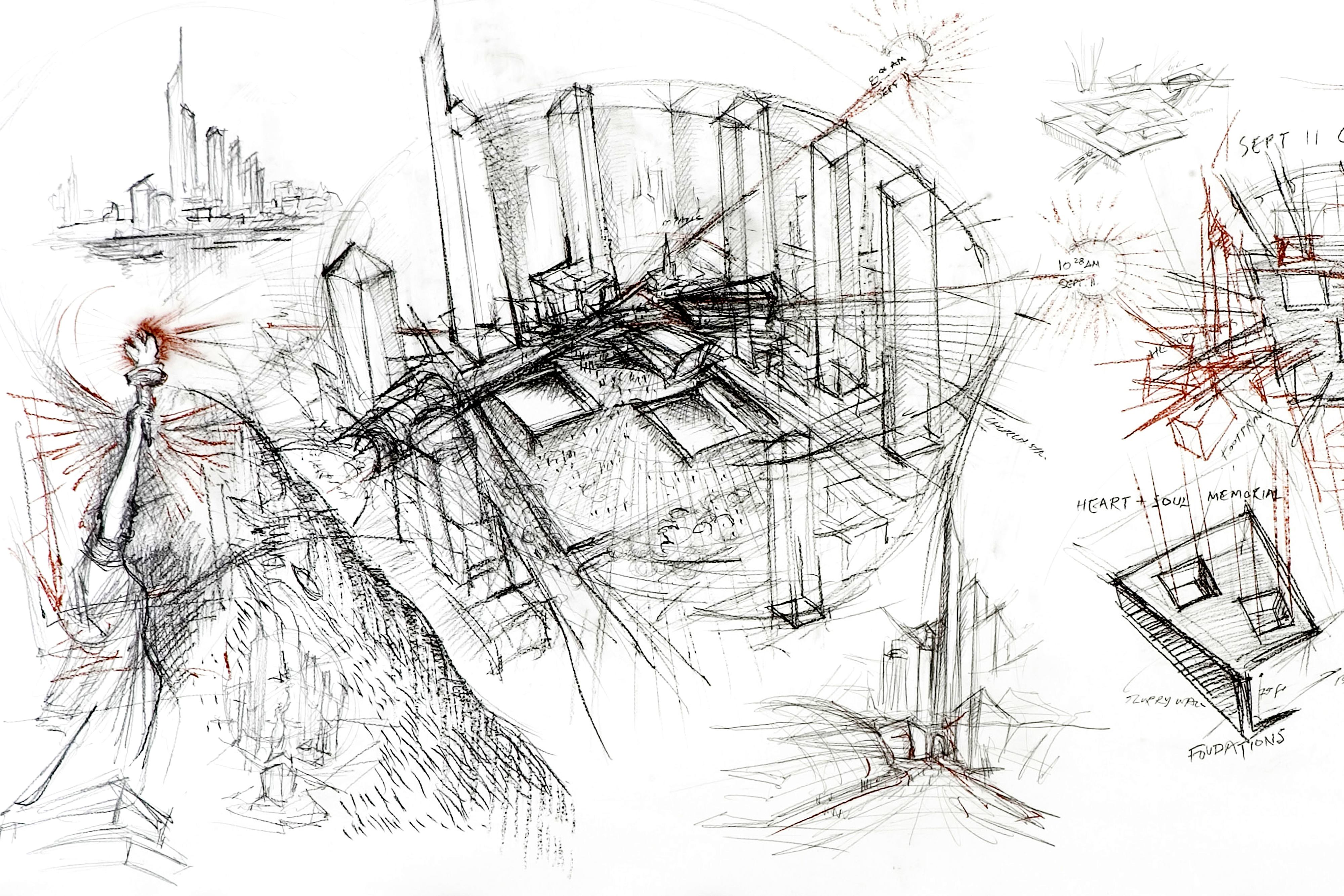 In Rome 52 Daniel Libeskind Drawings On Exhibit