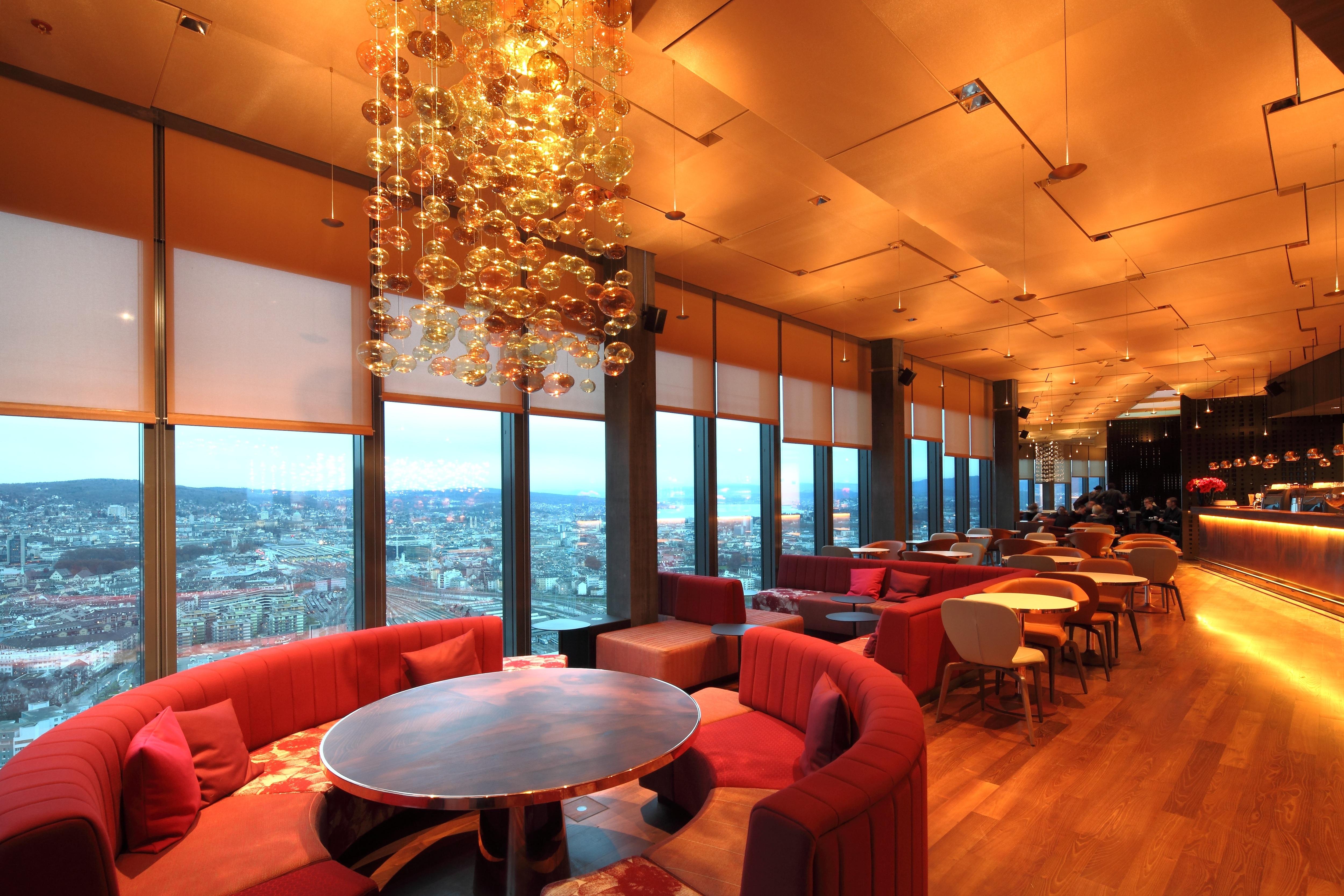 Prime Tower Clouds Restaurant And Deutsche Bank