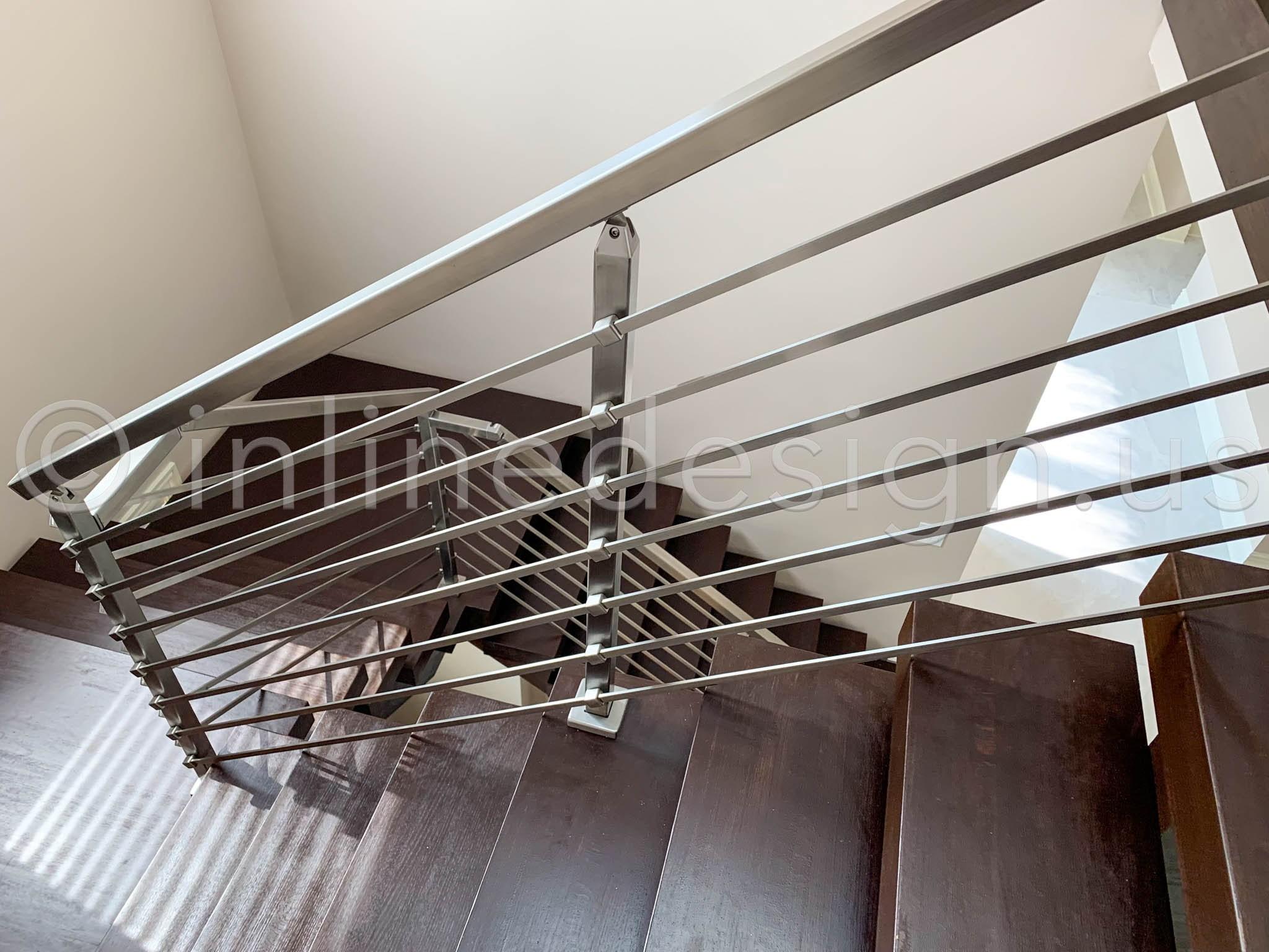 Modern Cable Railing On Mid Century Modern Architecture   Mid Century Modern Handrail   Porch   Interior   Art Deco   Wooden   Railing