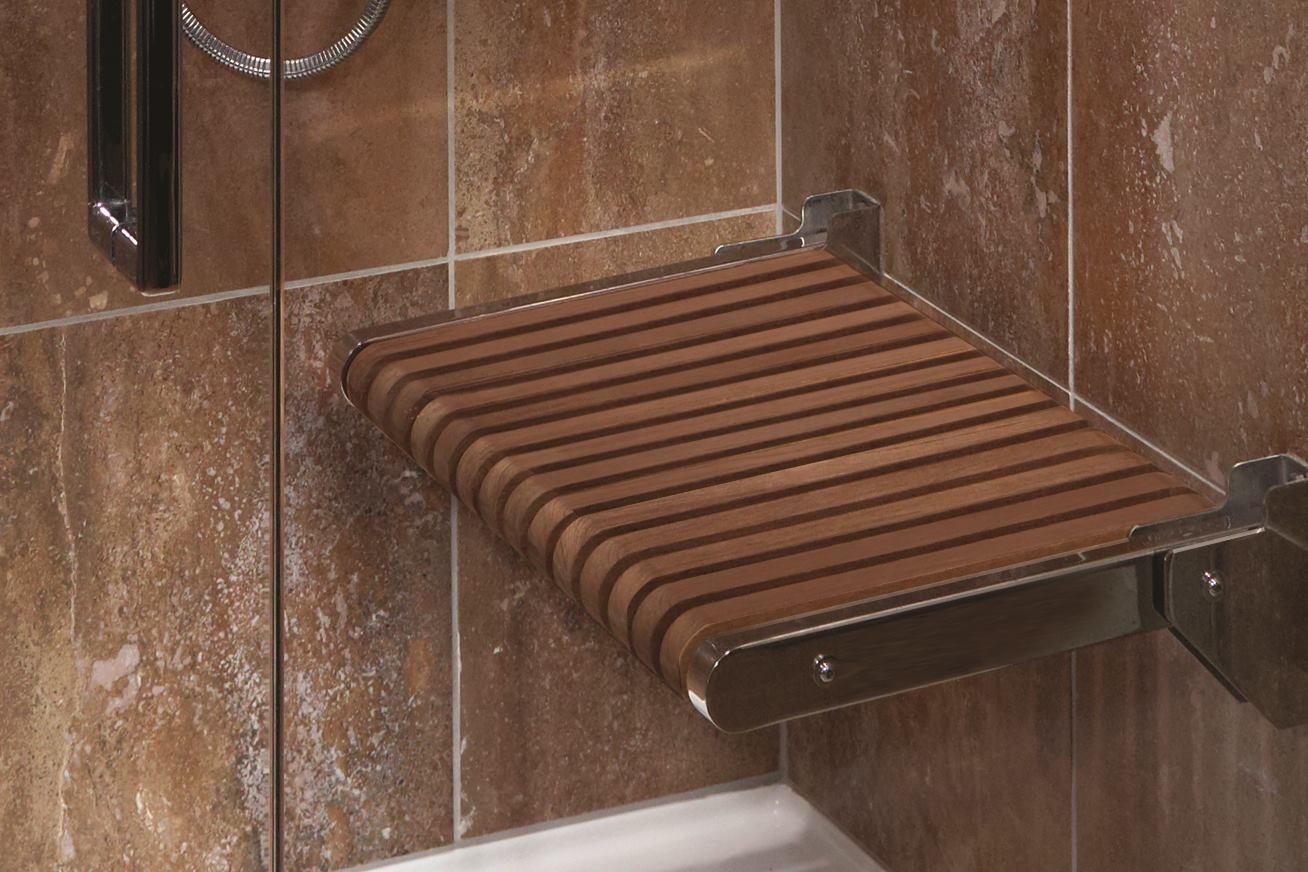 Teak Shower Seats Mti Baths Residential Architect Bath