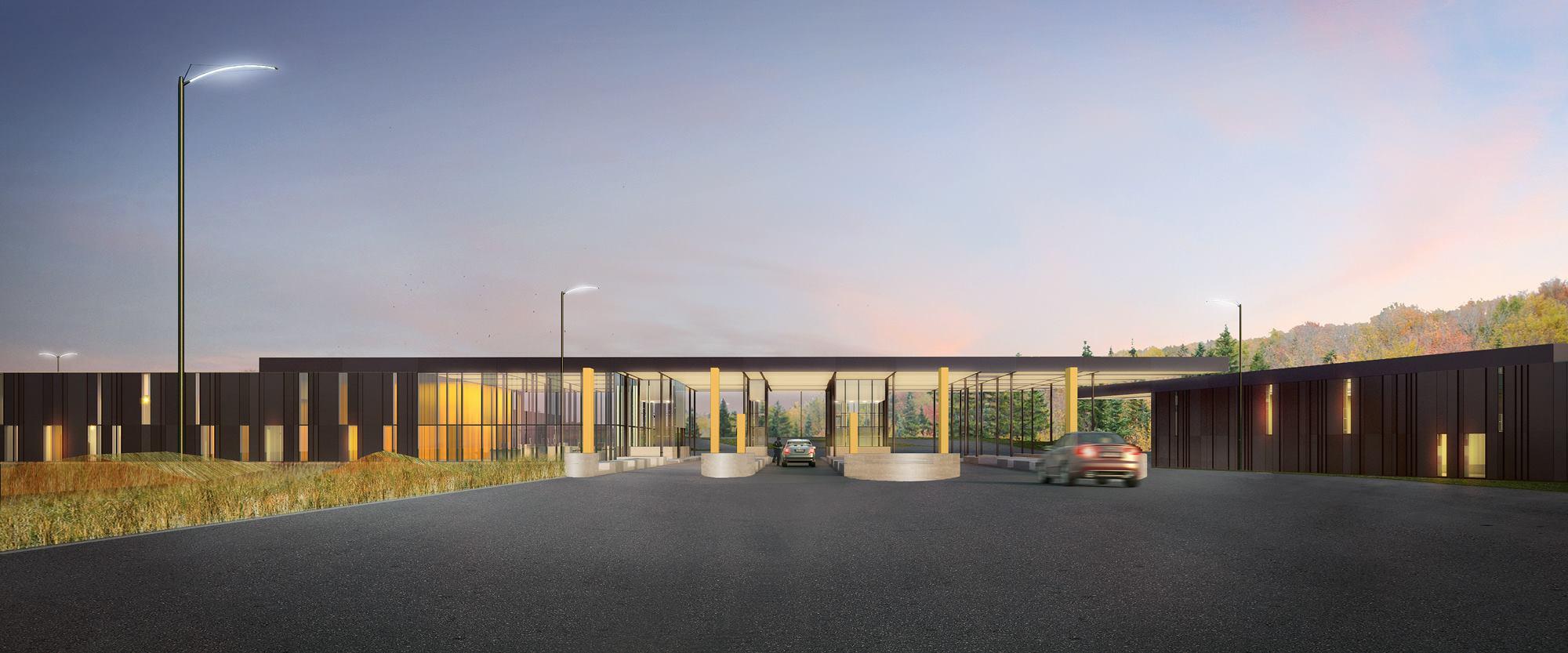 U S Land Port Of Entry Van Buren Maine Architect Magazine
