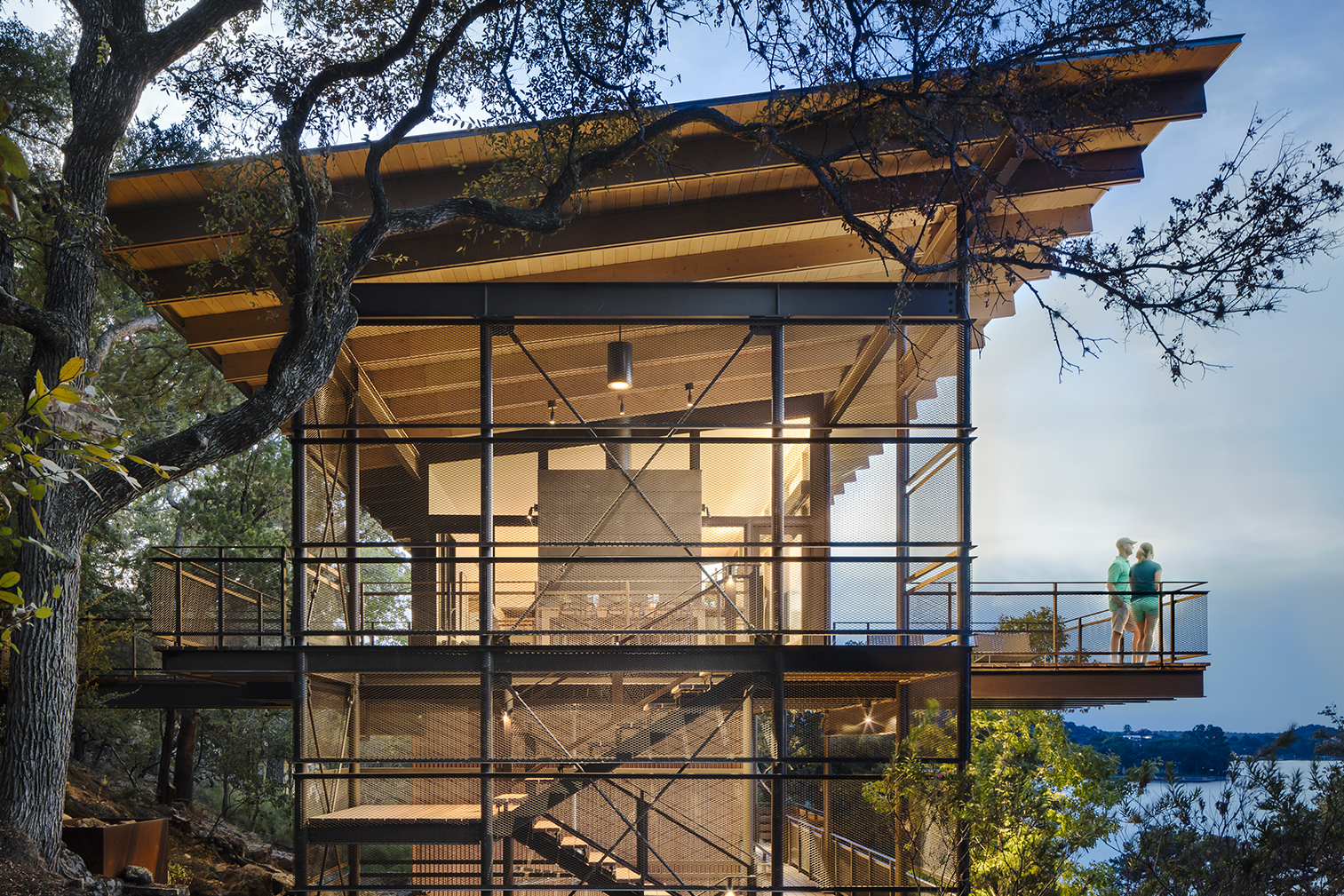 Blue Lake Retreat Architect Magazine LakeFlato Architects Marble Falls Texas Single