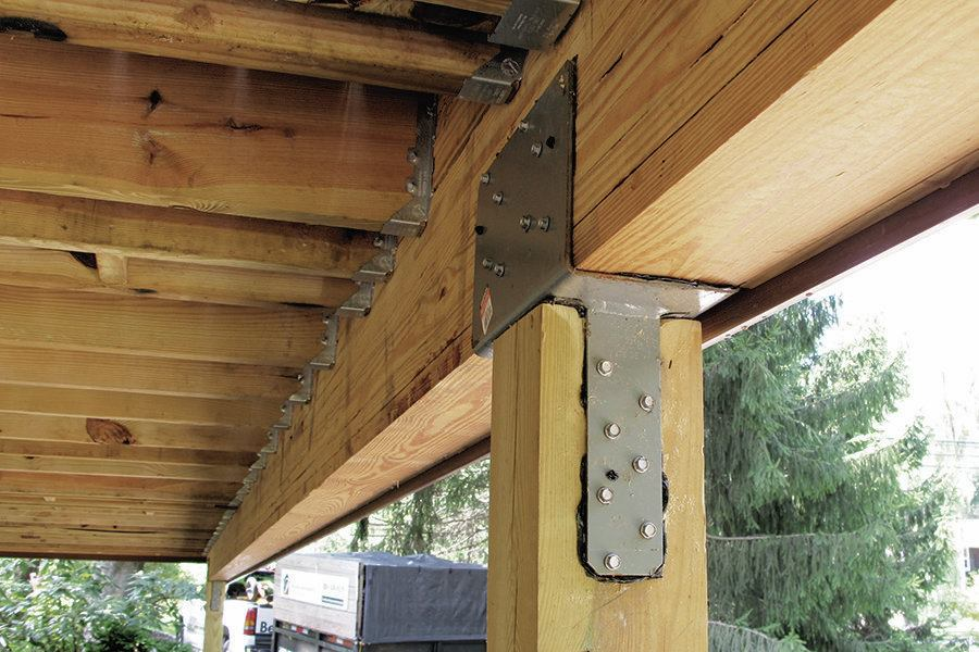 Stronger Post To Beam Connections Professional Deck Builder Framing Structure