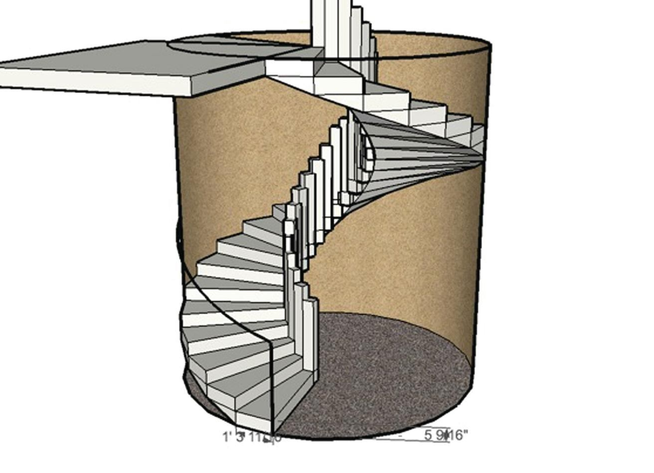 Forming A Circular Concrete Staircase Concrete Construction Magazine   Self Supporting Spiral Staircase   Staircase Design   London Uk   Stair Case   Santa Fe   Risers
