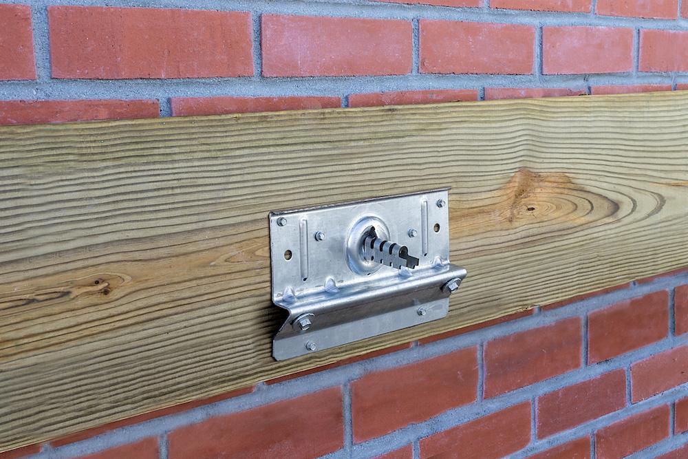 A Ledger Connector For Brick Veneer Professional Deck